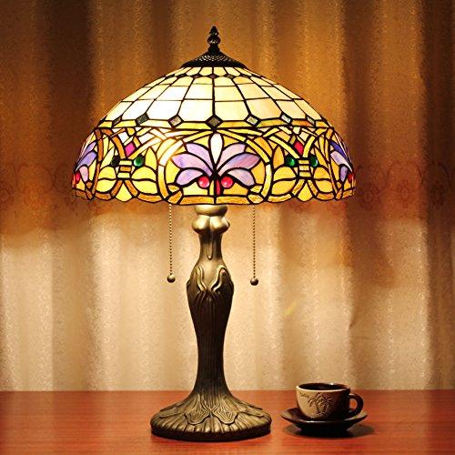 16 pollici viola barocca epoca di lusso pastorale europeo di stile di moderno lampada da tavolo desk lamp lampada da comodino