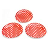 Polka Dot Plates-Red , Polka Dot Theme P...