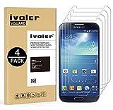 ivoler [4 Pack] Vetro Temperato Compatibile con Samsung Galaxy S4 [Garanzia a Vita], Pellicola Protettiva, Protezione per Schermo