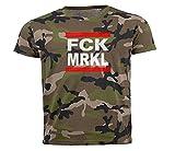 FCK MRKL Murksel Bundestag Wahl Bundestagswahl T-Shirt camo II M
