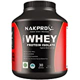 Nakpro Instantised Unflavored & Raw 100 % Whey Protein Powder Isolate - 1Kg