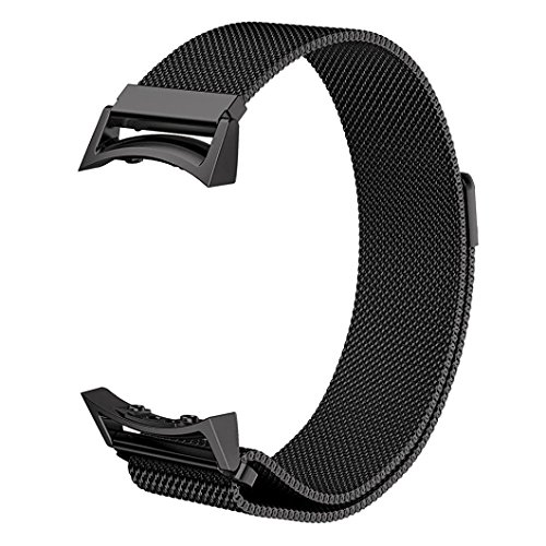 V de Moro Samsung Gear S2Bracelets, motif crocodile et cuir véritable de bracelet de montre de rechange avec adaptateur Métal Fermoir boucle Déployante pour Samsung Gear S2Smart Watch