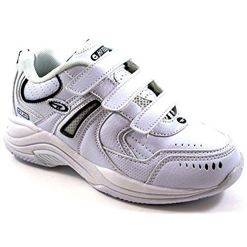 Hi-Tec , Chaussures de running pour garçon Multicolore White/navy 10 UK