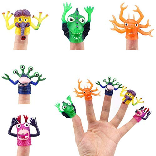 FidgetGear Monster Finger Puppets Set for Story Telling Props Party Favors,5Pcs/Set