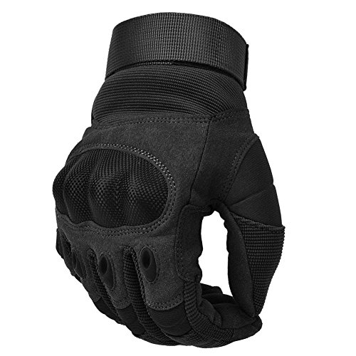 COTOP Guanti Moto Guanti, Touch Screen Hard Knuckle Guanti Moto Moto ATV Riding Guanti da Dito Pieno per Uomo(XL)