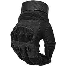 COTOP Guantes de motocicleta, guantes de nudillos duros Guantes de motocicleta Motos ATV Riding guantes de dedo completo para los hombres (L)