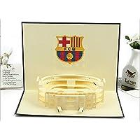 BC Worldwide Ltd Carta pop up 3D Compleanno dello stadio FC Barcelona Camp Nou, festa del papà, San Valentino, anniversario di matrimonio, Natale, festa della mamma, regalo di capodanno