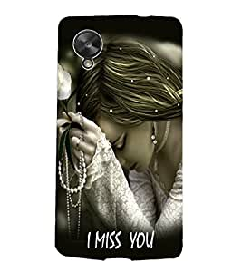 Fuson Gorgeous Girl Back Case Cover for LG GOOGLE NEXUS 5 - D3960