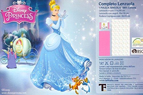 Lenzuola Delle Principesse Disney.Russo Tessuti Completo Lenzuola Letto Singolo Principesse Disney