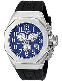 Swiss Legend Trimix Diver Chronograph Black Silicone Blue Dial 43mm Quartz Watch 10542-03