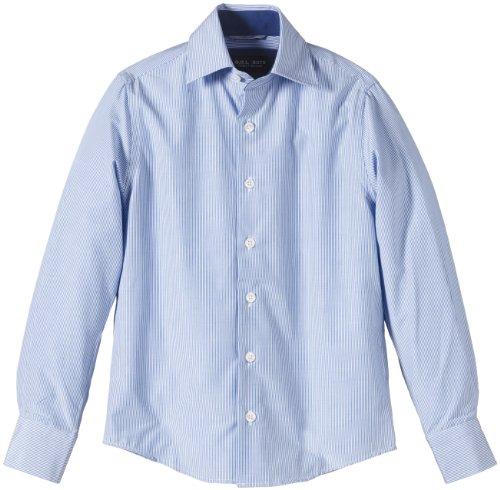 G.O.L. Jungen Hemd mit Eton-Kragen, Slimfit, Einfarbig, Gr. 164, Blau