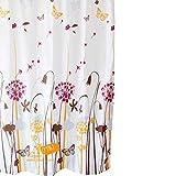 Sunlera Löwenzahn-Muster-Polyester-Duschvorhang Wasserdichtes Mouldproof Badvorhang
