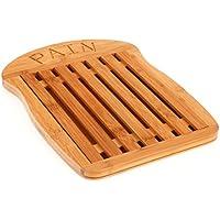 SECRET DE GOURMET Tabla de cortar pan de bambú - rejilla amovible