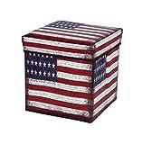 Amazinggirl Kids Room Coffre À Jouets Rangement Coffre Rangée Tabouret Pliable Cube (USA, 30 x 30 x 30 cm)