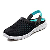 Yying Unisex Mens Shoes Womens Sandals Mesh Slip-on Shoes Slippers Anti-Slip Beach Walking Summer Nursing Shoes Breathable Mules Blue 40