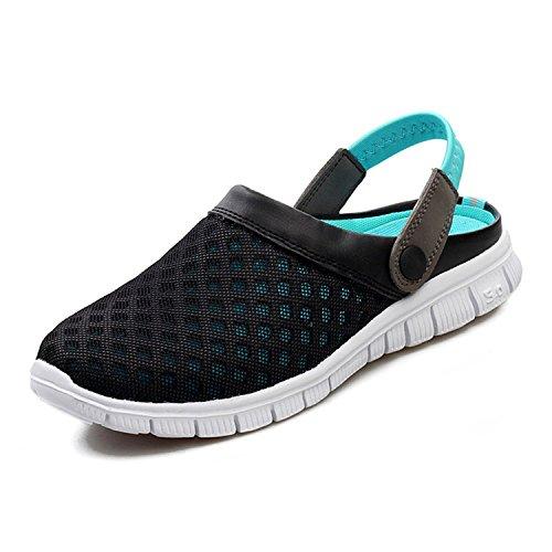 Unisexo Hombres Zapatos Mujeres Sandalias Malla Ponerse Zapatos Zapatillas Antideslizante Playa para Caminar Verano Enfermería Zapatos Respirable Mulas Azul 41 Yying