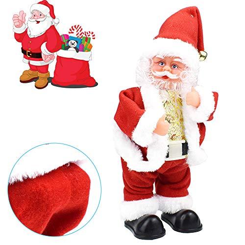 (Vovotrade Spielzeug Christmas Elektrische Weihnachtsmann Animated Musical Santa Claus Figuren Twisted Hip Dance singt lustig Electric Toy for Kids Dekorationen Geburtstag Geschenk Weihnachten (C))
