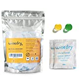 10 Gram x 30 Packs Silica Gel Sachets Bags with Orange Beads Humidity Indicator Desiccant Packs Moisture Absorber for Air Dryer Moisture Removal, Food Grade