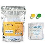 wisedry 10 Gramos x 30 Paquetes Gel De Sílice bolsitas con Perla de Naranja Indicador de Humedad Deshumidificadores, Grado alimenticio