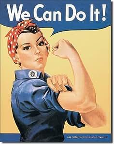 Plaque métal - We can do it Rosie