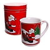 1. FC Nürnberg - Weihnachtstasse in Metalldose Kaffeetasse Weihnachtsdose