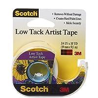 Scotch Artist Tape, 3/4-Inch x 10-Yards, Low Tack (FA2020)