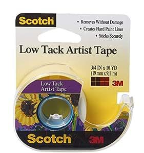 3M Scotch faible Tack Artiste tape-.75-inch x 10yd, d'autres, multicolore