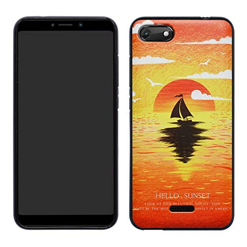 HHDY Wiko Harry 2 Hülle, Painted Muster Weich Ultradünne TPU Silikon Handyhülle Case Cover für Wiko Harry 2,Sunset