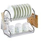 TX ZHAORUI Küche doppelschichtiges Geschirrspüler mit Kunststofftropffach und Geschirrspüler für Küchentheke,#1