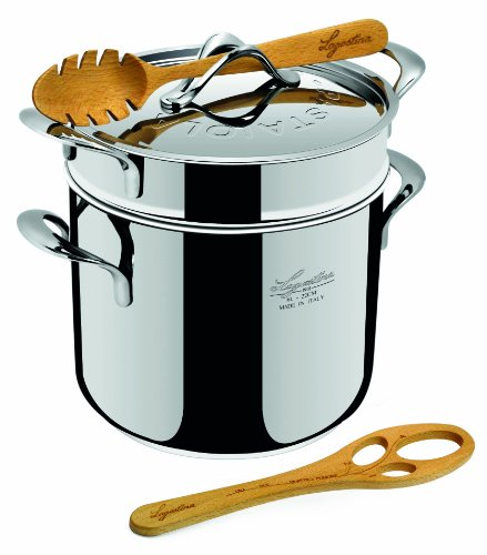 Lagostina La Pasta Set Pastaiola Pasta Pot / 22 cm / 6 Litres/Stainless Steel Img 1 Zoom