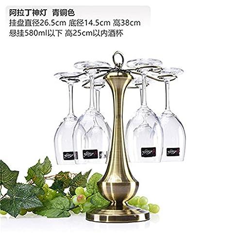 ZJWineracks Sepia creative continental iron hand Wine Rack inverted wine cup holder, God light gunmetal