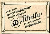 1948 : Anzeige: RHEILA / HUSTENMITTEL - Format: ca. 65 x 50 mm - alte Werbung /Originalwerbung/ Printwerbung / Anzeigenwerbung / Inserat