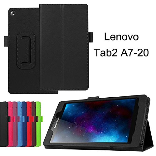 Lenovo Tab 2 A7-20 Cases and Covers- Dark Blue Tri-Fold PU Leather Smart Case Cover with Stand Function for Lenovo Tab 2 A7-20 7-inch Tablet[Not fit for Lenovo Tab 2 A7-30 ]