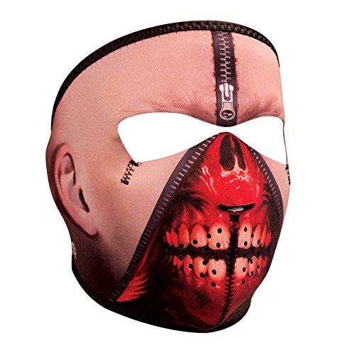 Zan Zanheadgear Neoprene Skull Half Face Mask Cromo//Nero