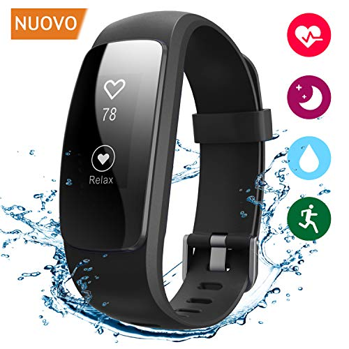 Winisok Fitness Tracker Cardio IP67, Braccialetto Fitness Impermeabile Orologio Cardiofrequenzimetro Fitness Activity Tracker