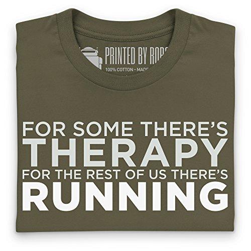 Running Therapy T-shirt, Uomo Verde oliva