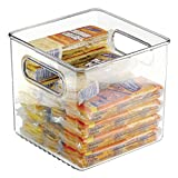 mDesign 2er-Set Kühlschrankbox - 15x15x15cm - stapelbare Aufbewahrungsbehälter für Lebensmittel - ideale Aufbewahrungsbox aus Kunststoff - als Küchen Ablage oder im Kühlschrank - durchsichtig