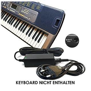 ABC Products Ersatz Casio Netzteil, Netzadapter, Netzanschluss DC 9V / 9 Volt (AD-5, AD-5E, AD-5MLE, AD-5MLE-TC1, AD-5MR, AD-5EL, AD-5MU, AD-5GL) für Casio Keyboards / Digital Piano / Synthesizers (Modelle unten angegeben)