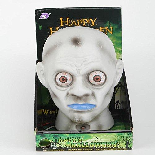 Ghost 'Kopf Augäpfel Beleuchtung schreckliche Sounds Qualität Kunststoff Material ungiftig und Umwelt Batterie Stromversorgung (Kleines Mädchen Ghost Kostüme)