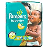 Pampers Baby Trocken Größe 5 + Junior Plus 13-27Kg (22)
