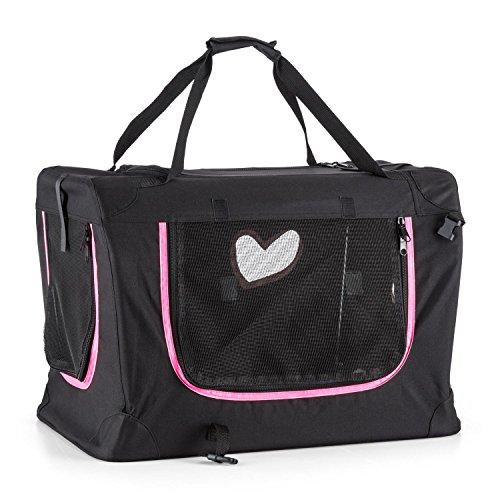 oneConcept Pet Pocket • Transporttasche • Hundetasche • strapazierfähig • wasserdicht und reißfest • stabil • 3 Zugangsklappen mit Reißverschluss • klappbarer Rahmen • belastbare Tragegriffe • schwarz