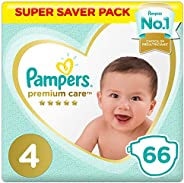 Pampers Premium Care Diapers, Size 4, Maxi, 9-14 kg