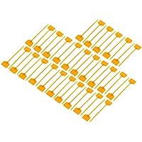 sourcingmap 50pcs 3mmx120mm Abrazadera de cables de alambre Cierre Amarillo de Nylon etiqueta autobloqueante Marcador de Cables