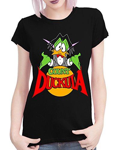 Ladies Count Duckula Retro Kids TV T-shirt