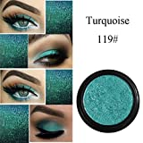 Cloom 24 Farben Glitter Lidschatten Schimmernde Lidschatten Metallic Eye Cosmetic Monochrome Lidschatten Glänzender Perlenlidschatten Braune Blaue Lidschatten Wasserdichter Lidschatten Palette (S)