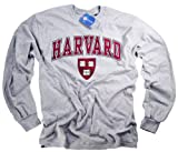 Harvard Camiseta Camiseta Manga Larga NCAA College University Crimson Crew Producto Oficial Collegiate Producto Gris Gris Gris XX-Large