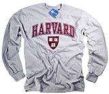 Harvard Camiseta Camiseta Manga Larga NCAA College University Crimson Crew Producto Oficial Collegiate Producto Gris Gris Gris XX-Large