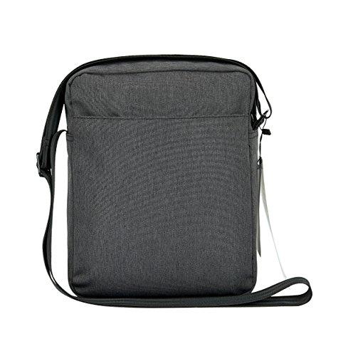 26x6x21 centímetro Oscuro Gris Hombre con Agua Resistente Bandolera A Soporte y iPad Arañazos Tableta los Bandolera Hombre de y Vintage Bolso al Verran UqHw41pxw
