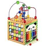 Lewo Motorikspielzeug Baby Kleinkindspielzeug Aktivitätszentrum buntes Holz Spielcenter Lernspielzeug für Kinder