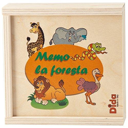 DIDA - Mémo Jungle - 20 pièces - Jeux Memory pour Enfant en Bois